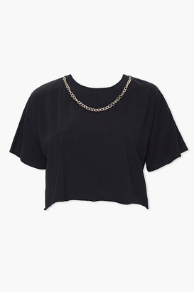 Forever 21 Plus Size Chain Cropped Tee