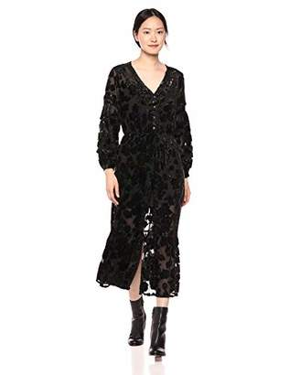 The Kooples Women's Women's V-Neck Maxi Dress in Burn-Out Sheer Velvet