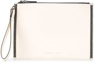 Brunello Cucinelli Monili-Trimmed Clutch