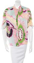 Roberto Cavalli Silk Button-Up blouse