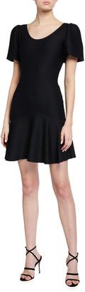 Shoshanna Kosmo Texture Stretch A-Line Dress