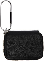 Kara Black Leather Carabiner Wallet