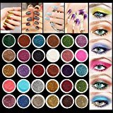 Eyeshadow&Nail Glitter LuckyFine 30Pcs/Set Colors Mixed Glitter Loose Powder Eyeshadow Eye Shadow Cosmetics Salon Random Color App 2.51.5cm(DH)