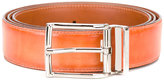 Santoni rectangular bluckle belt