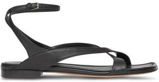 Burberry Wrap-Around Low-Heel Sandals