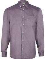 River Island Purple Flannel Long Sleeve Shirt