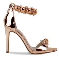 OLIVIA MILLER Eastport Multi Pom Pom High Heel Sandals Women's Shoes