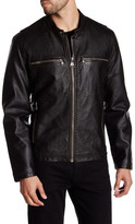 Andrew Marc Spruce Faux Leather Jacket