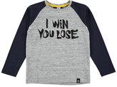 Molo Rami Raglan I Win You Lose Tee, Blue/Gray, Size 4-12