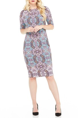 Maggy London Morgan Printed Midi Dress