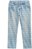 Hello Kitty Bow-Print Denim Pants, Toddler & Little Girls (2T-6X)