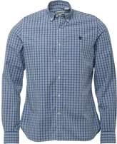 Timberland Mens Eastham Long Sleeve Check Shirt Dark Denim