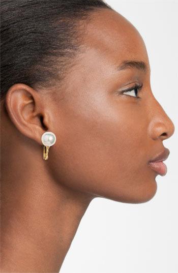 Majorica 12mm Round Pearl Clip Earrings
