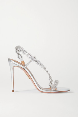 Aquazzura Heaven Crystal-embellished Pvc Sandals - Silver