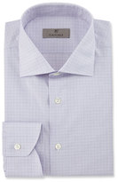 Canali Modern Fit Graph Check Dress Shirt, Pink