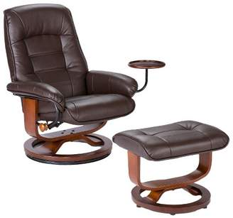 Fabulous Leather Recliner And Ottoman Shopstyle Gmtry Best Dining Table And Chair Ideas Images Gmtryco