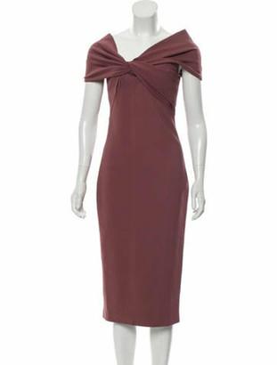 Cushnie Sleeveless Midi Dress Mauve