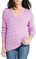 Polo Ralph Lauren V-Neck Long Sleeve Side Slit Sweater