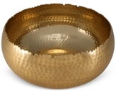 Thirstystone Old Hollywood Large Hammered Gold-Tone Bowl