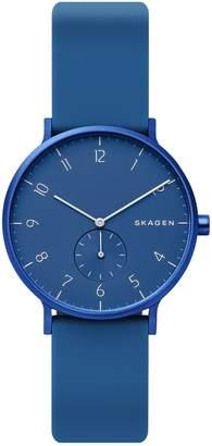 Skagen Aaren Kulor Blue Silicone 36mm Watch