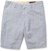Rag and Bone Rag & bone Beach Striped Cotton and Linen-Blend Shorts
