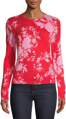 Lord & Taylor Floral Cotton Cardigan