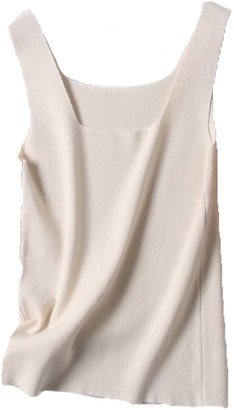 Goodnight Macaroon 'Molly' Square Neck Knitted Tank Top (4 Colors)