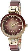 Anne Klein Women's AK/2212BYGB Burgundy Ombre Resin Bangle Watch