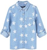 MANGO Girls Printed Denim Shirt