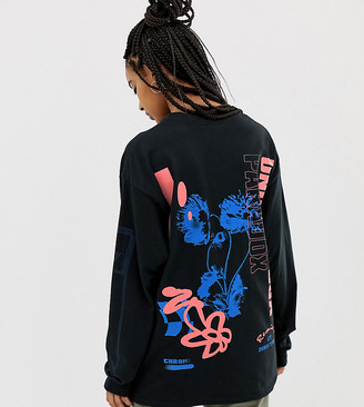 Crooked Tongues long sleeve t-shirt in unorthodox flower print
