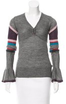 Just Cavalli Colorblock V-Neck Cardigan