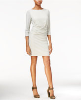 Rachel Roy Draped Metallic-Detail Dress, Only at Macy's