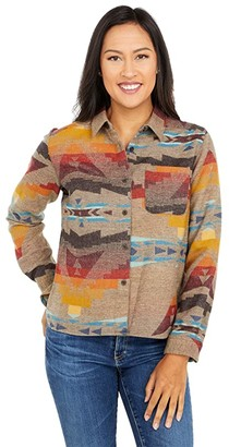 Pendleton Jacquard Cropped Lodge Shirt (Sierra Peak Jacquard) Women's Clothing