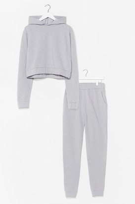 Nasty Gal Womens Over Your Head Hoodie and Joggers Set - Grey - 6