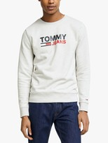 Tommy Hilfiger Tommy Jeans Tommy Corp Crew Sweatshirt, Grey