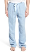 Daniel Buchler Men's Washed Linen Lounge Pants