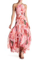 Phoebe Floral Backless Hi-Lo Dress