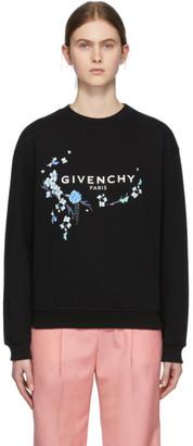Givenchy Black Floral Logo Sweatshirt