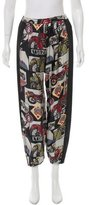Hache Printed High-Rise Pants w/ Tags