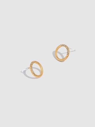 Madewell Pave Circle Stud Earrings