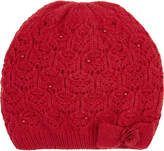 Monsoon Lacey Bow Pearl Beanie Hat