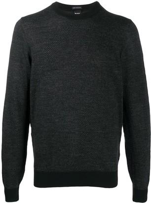 HUGO BOSS Rib-Trimmed Virgin Wool Jumper