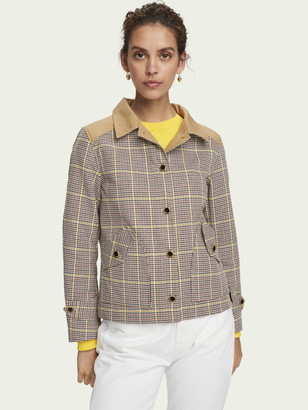 Scotch & Soda 100% cotton checked workwear jacket   Women
