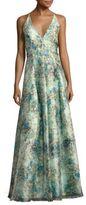 Aidan Mattox Floral Print Gown