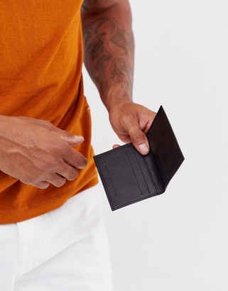 French Connection premium leather folded cardholder