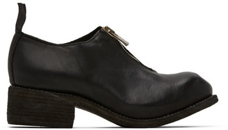 Guidi Black Front Zip Loafers