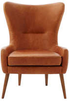 west elm Erik Leather Swing Chair, Saddle