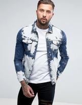 Liquor N Poker Extreme Bleached Denim Jacket
