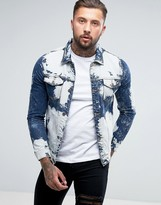 Liquor & Poker Extreme Bleached Denim Jacket