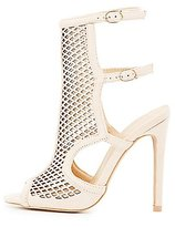 Charlotte Russe Buckled Perforated Dress Sandals